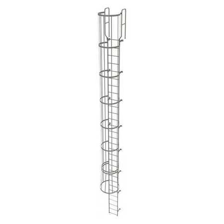 29Ft Steel Fixed Ladder with Safety Cage – WLFC1230
