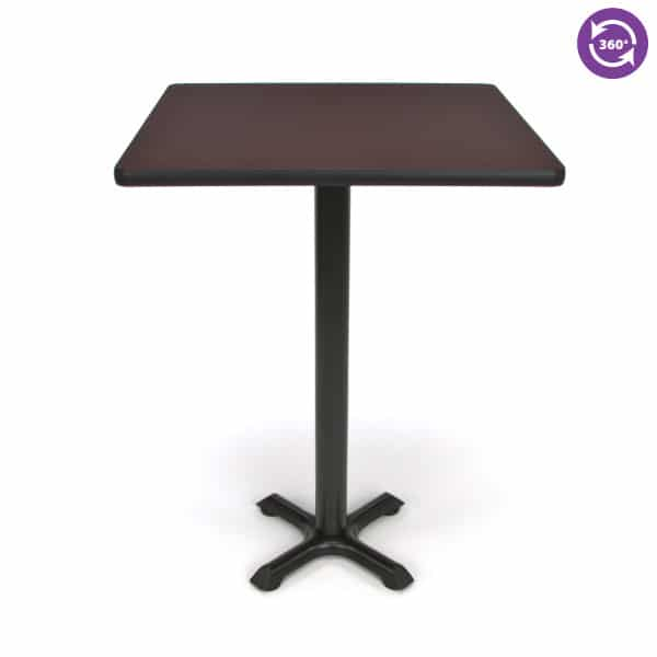 30 Square X Style Base Cafe Table