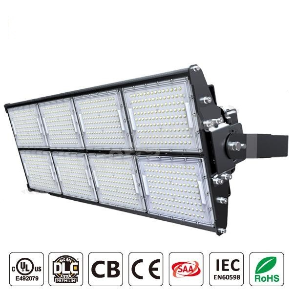 LED Stadium Light 1000W, Super Bright Outdoor Flood Light 135Lmw, IP65 Waterproof