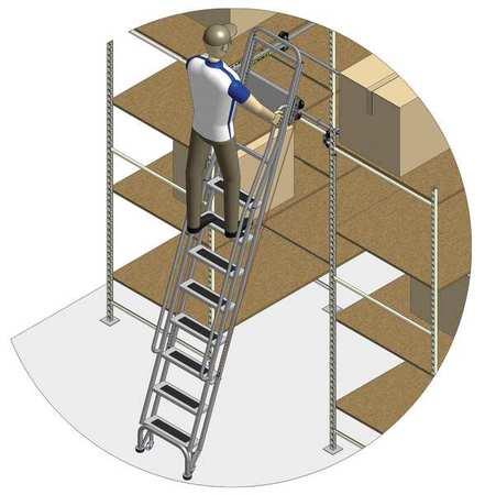 95 to 105in Dual Track Ladder w/Brake – 7407A5-B C1 P3 KIT
