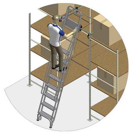 95 to 105in Dual Track Ladder w/Brake – 7407A6-B C1 P3 KIT
