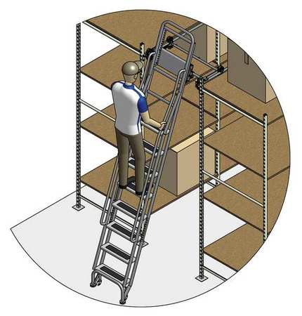 95 to 105in Stationary Dual Track Ladder – 7407A5-S C1 P3 KIT