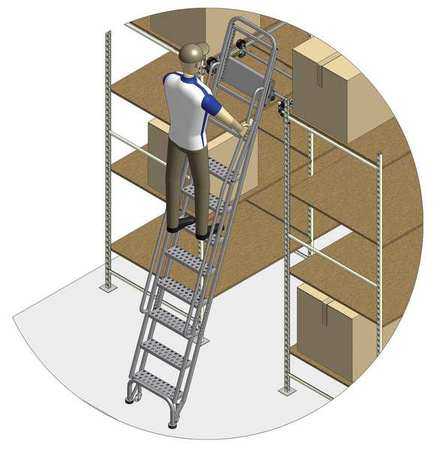 95 to 105in Stationary Dual Track Ladder – 7407A6-S C1 P3 KIT