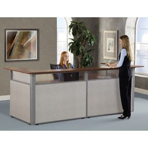 96″ x 37″ U-Shaped Reception Station""