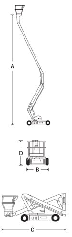 A38E Electric Articulating Boom Lift 7