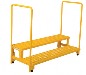 Adjustable Height Step Stands with Handrails