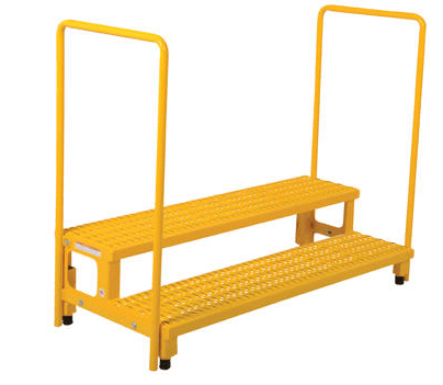 Adjustable Height Step Stands With Handrails Industrial