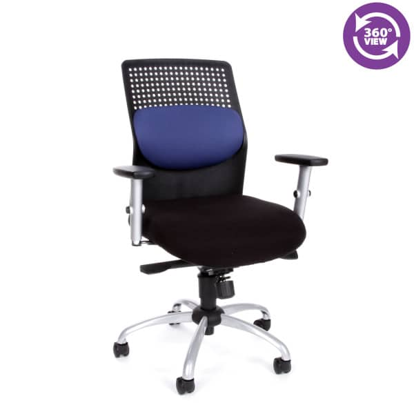 AirFlo Series Executive Task Chair with Silver Accents