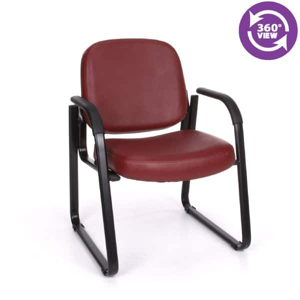 Anti-MicrobialAnti-Bacterial Vinyl GuestReception Chair with Arms