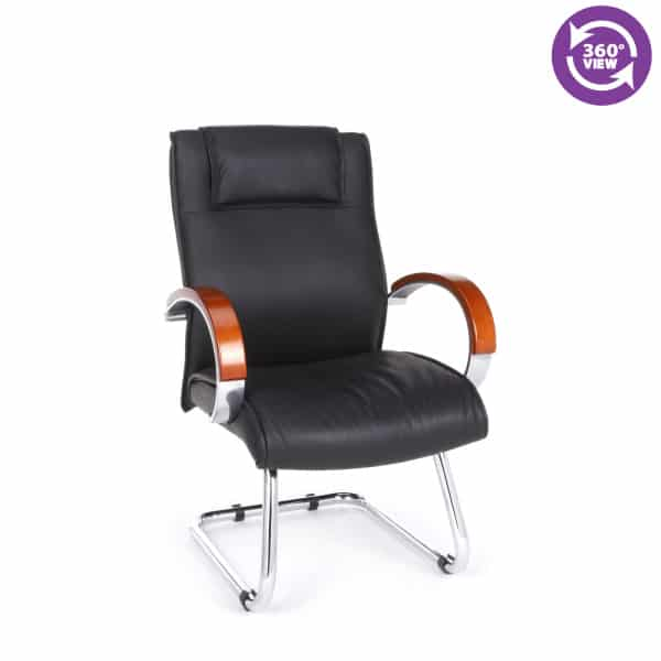 Apex Series Leather Executive Mid-Back Guest Chair