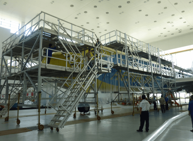 B767/B777 Fuselage and Wing Dock