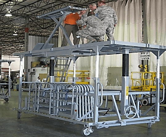C5M Aircraft Engine Work Stand