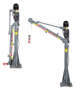CE1500FB Truck-Mounted Electric Mast Crane 1500lbs Lifting Capacity