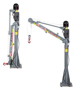 CE1500FB Truck-Mounted Electric Mast Crane 1500lbs Lifting Capacity