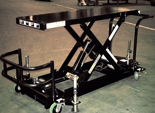 DC Powered Mobile Scissor Lift Table