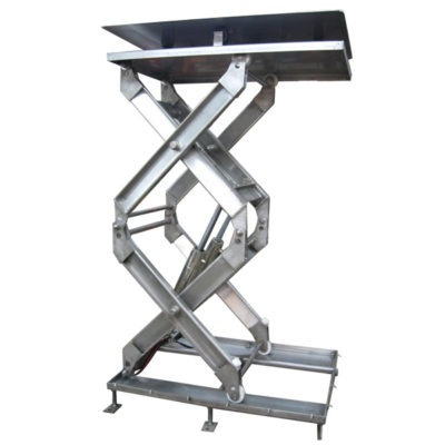 Double Stainless Steel Scissor Lift Table