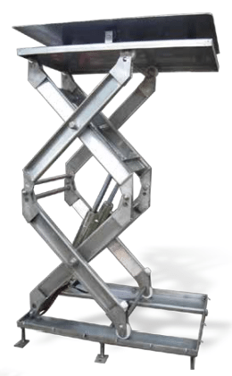 Double Stainless Steel Scissor Lift Tables