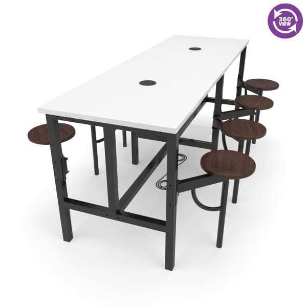 Endure Series Standing Height Eight Seat Table
