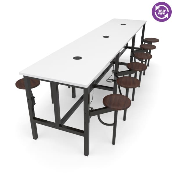 Endure Series Standing Height Twelve Seat Table