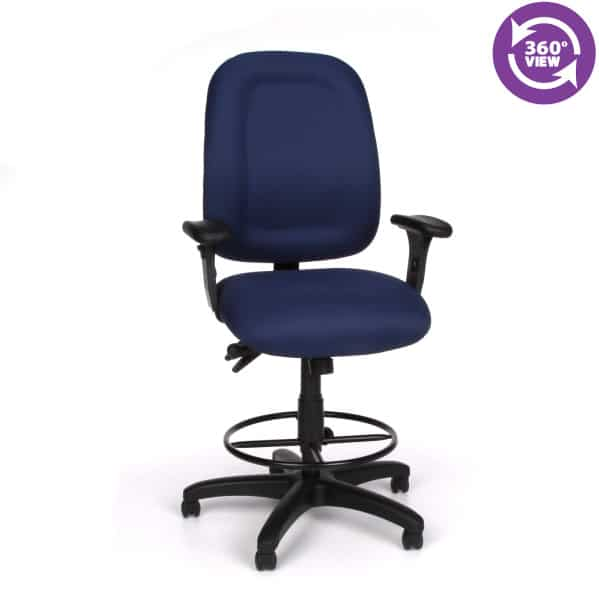 Ergonomic Task Chair with Drafting Kit