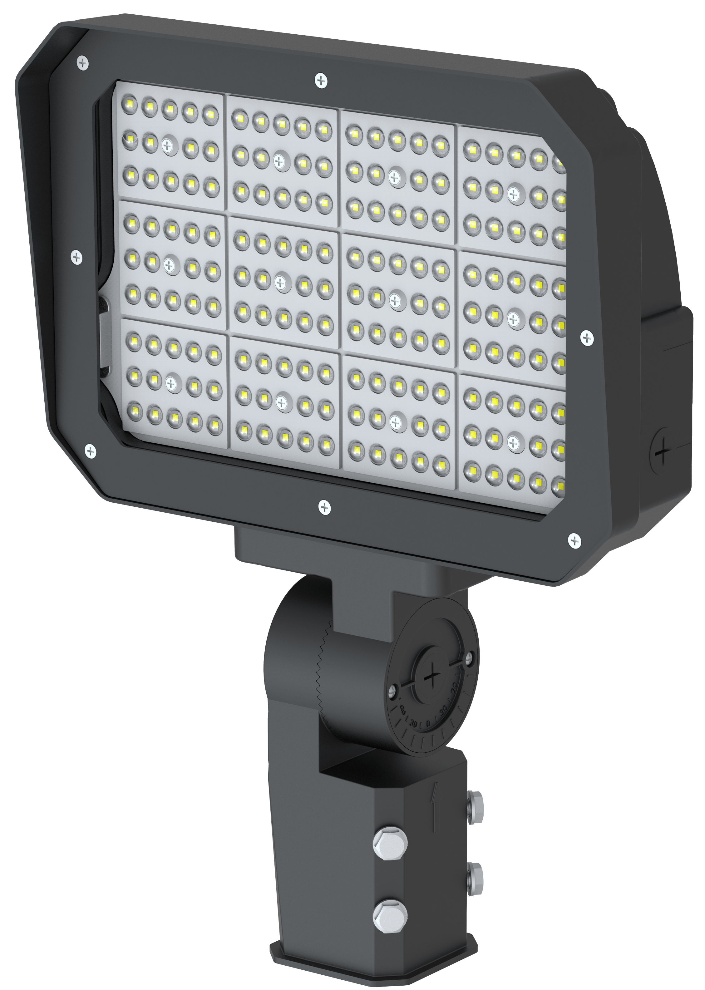 LED Flood Light 50W ,180° Adjustable Knuckle, Waterproof Outdoor Area Lighting