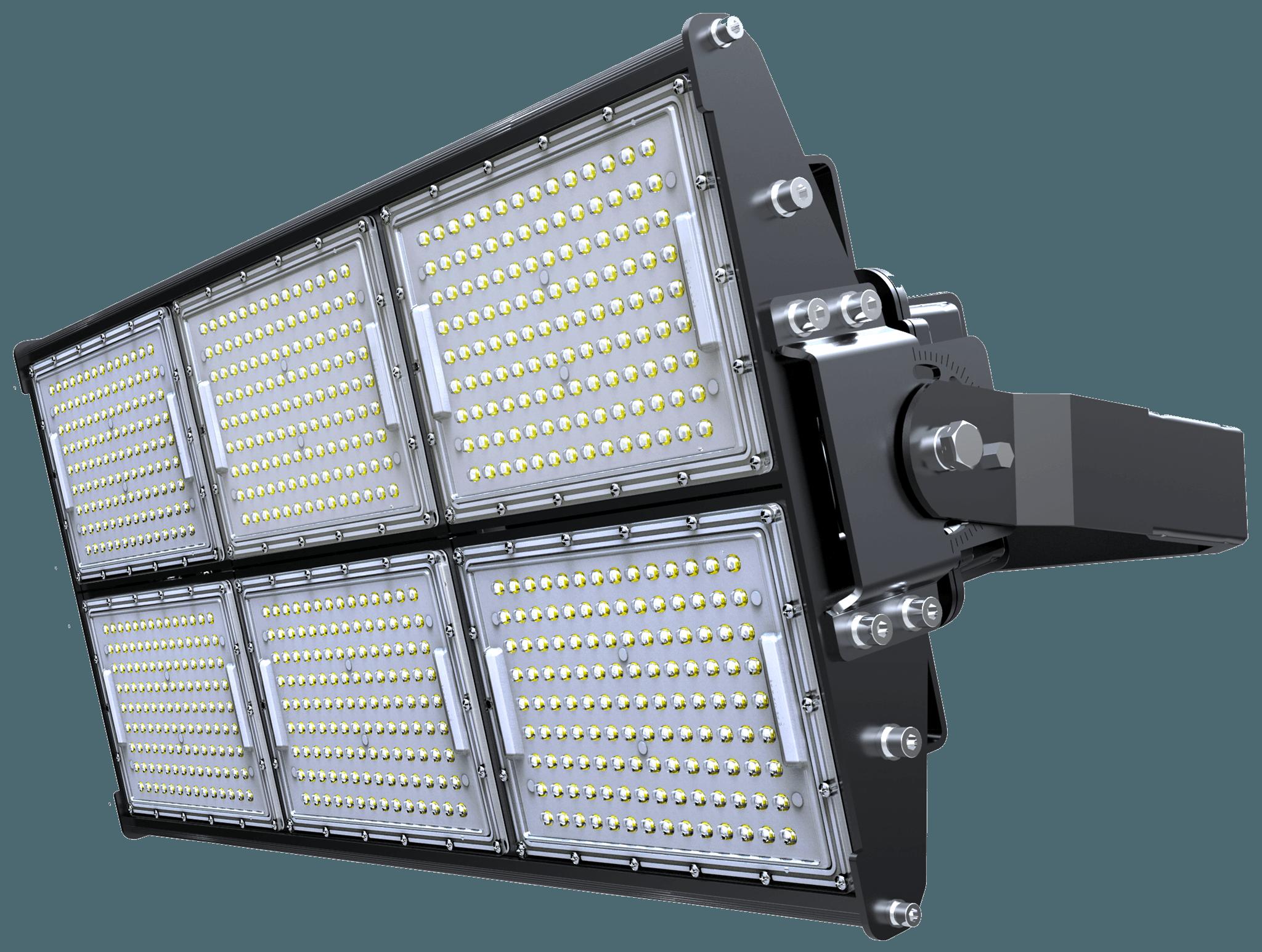 LED Stadium Light 720W, Super Bright Outdoor Flood Light, IP65 Waterproof