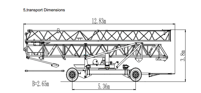 Fast Assemble Tower Crane Specifications 4