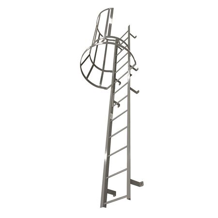 Fixed Ladder With Safety Cage – M16SC L9 C1