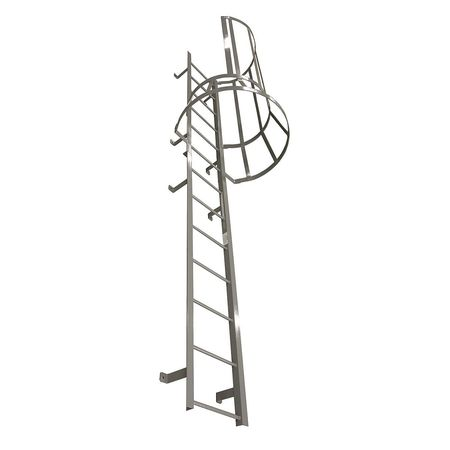 Fixed Ladder With Safety Cage – M25SC L10 C1