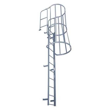 Fixed Ladder With Safety Cage F25wc C1 Industrial Man