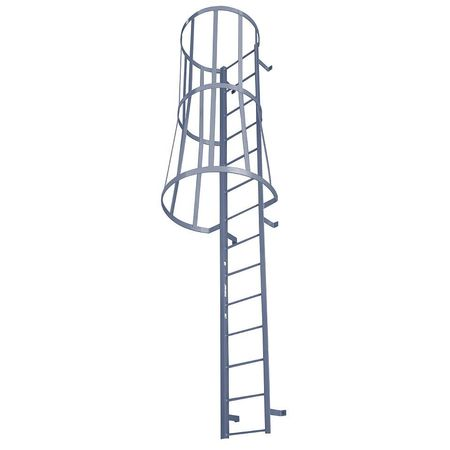 Fixed Ladder With Safety Cage M25sc C1 Industrial Man