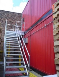 Galvanized Industrial Stairways