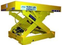 Heavy duty scissor lift tables