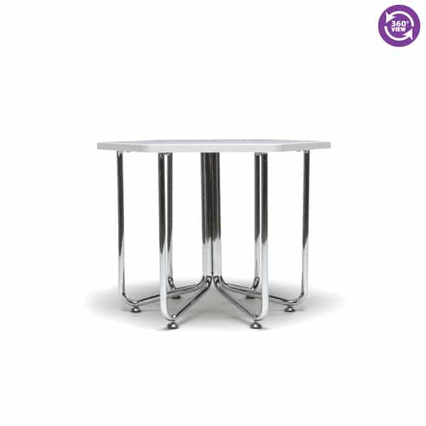 Hex Series Table with Chrome Frame