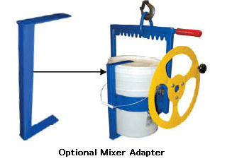 Hoist Mounted Pail Carrier Rotator