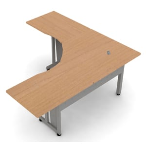 L-Shaped Workstation 72 x 72 with 30 D Top
