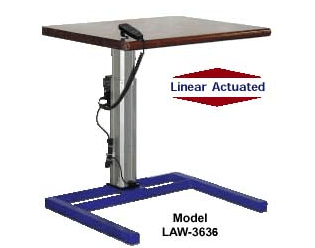 Linear Actuated Adjustable Height Workstation