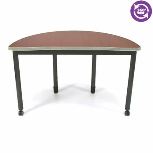 Mesa Series Half Round Table 24 by 48