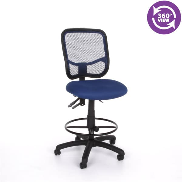 Mesh Comfort Series Ergonomic Task Chair with Drafting Kit