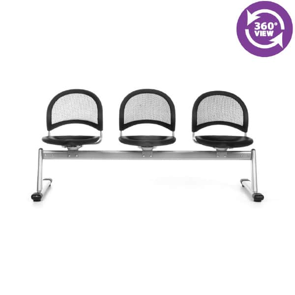 Moon 3-Unit Beam Seating with 3 Seats
