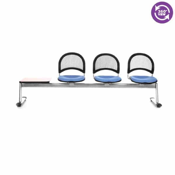 Moon 4-Unit Beam Seating with 3 Seats & 1 Table