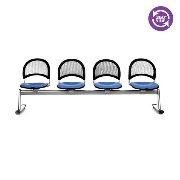 Moon 4-Unit Beam Seating with 4 Seats