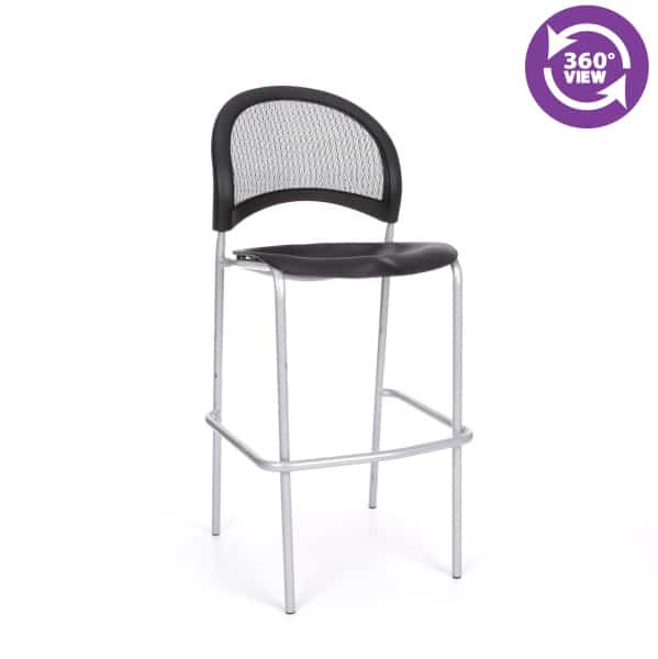 Moon Cafe Height Plastic Silver Chair