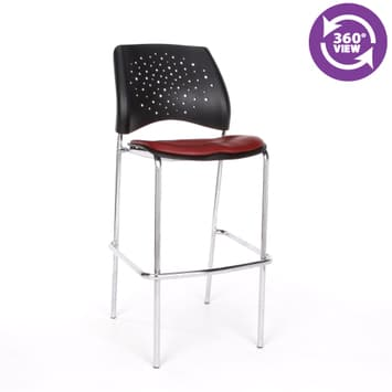 Moon Cafe Height Vinyl Chrome Chair