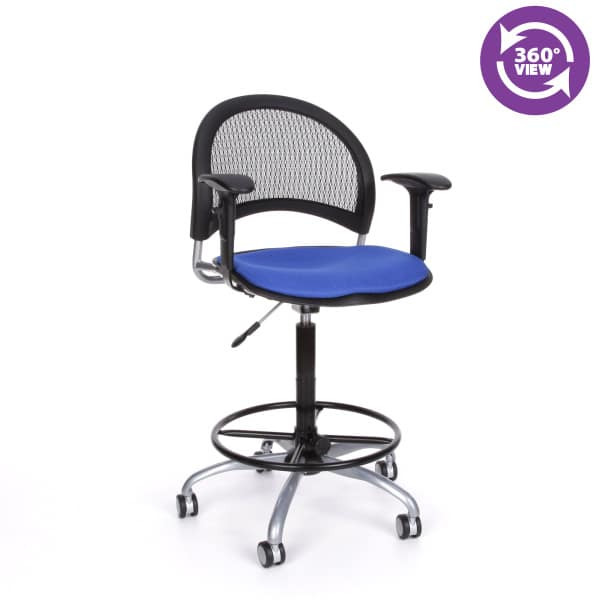 Moon Swivel Chair with Arms and Drafting Kit