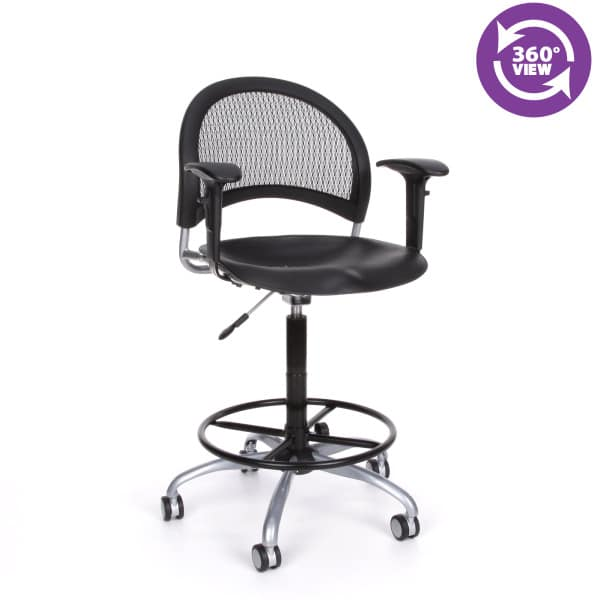 Moon Swivel Plastic Chair with Arms and Drafting Kit