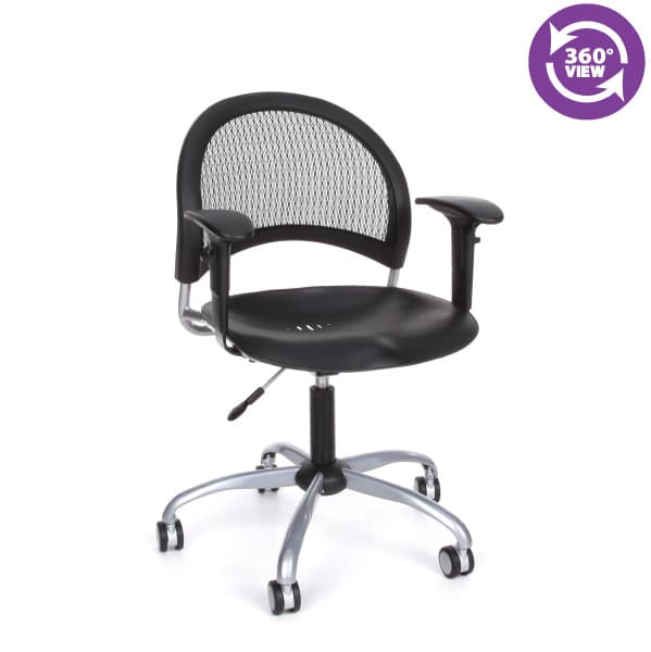 Moon Swivel Plastic Chair with Arms
