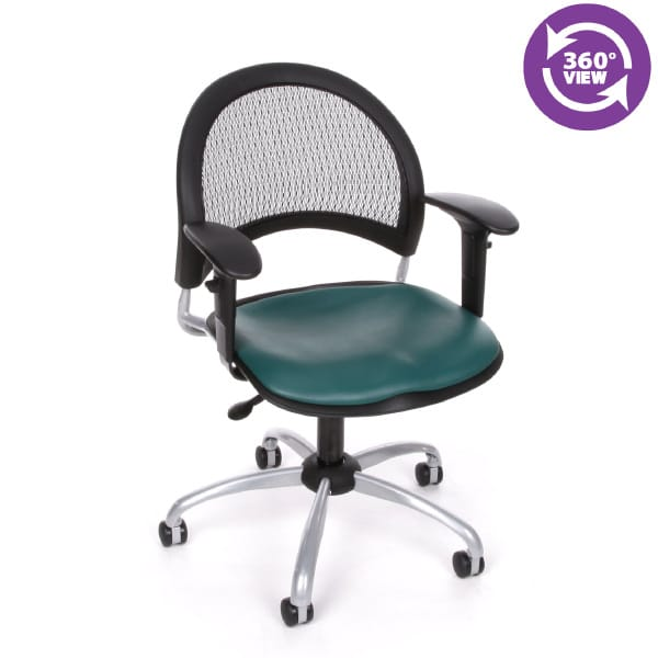 Moon Swivel Vinyl Chair with Arms