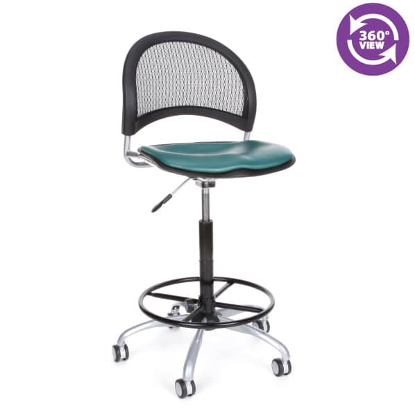 Moon Swivel Vinyl Chair with Drafting Kit