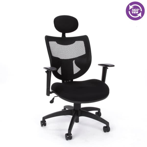 Parker Ridge Series Executive Mesh Chair with Headrest